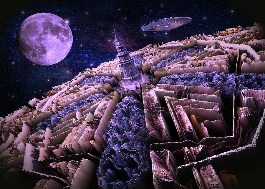 Space Adventure To Tanzanite Planet Digital Art