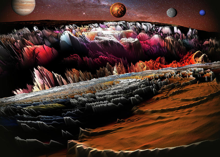 Space Adventures Mars Landing Digital Art