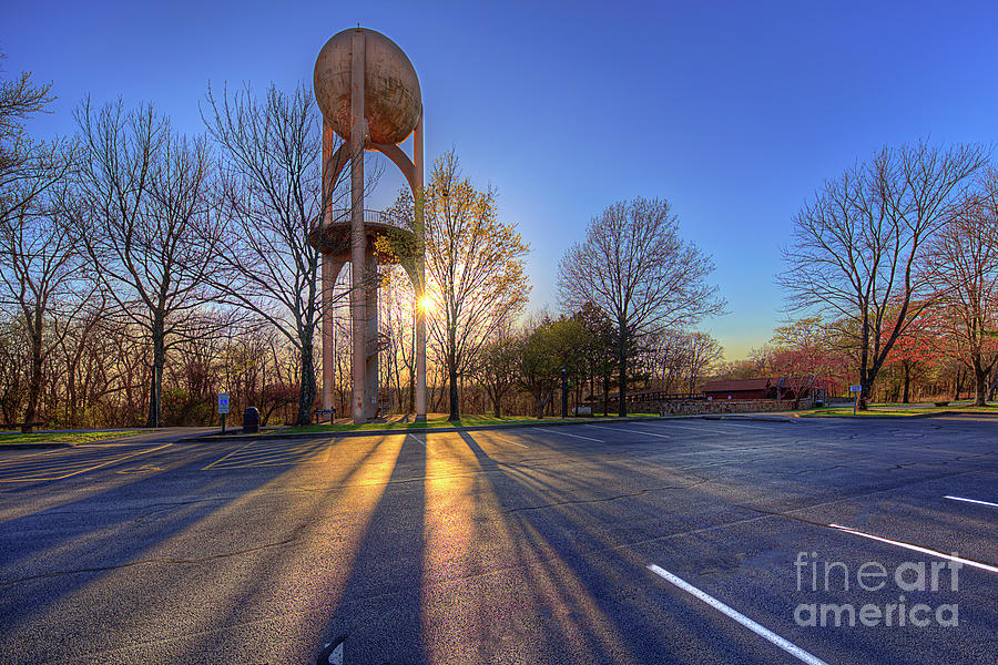 Travel Photograph - Space Age Water Tower  by Larry Braun