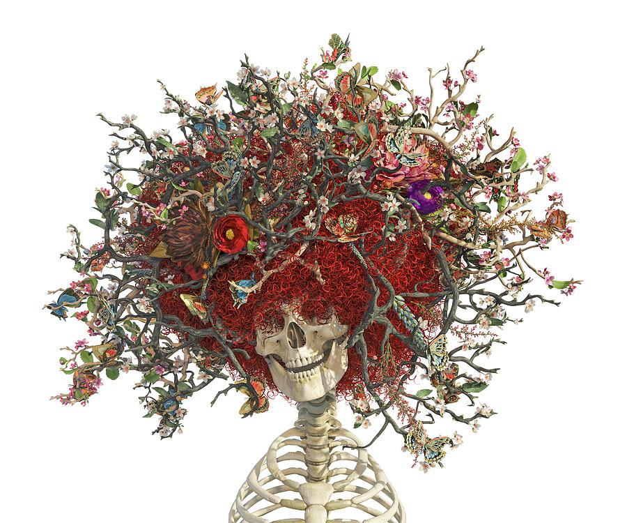 Space Jam Skull Digital Art
