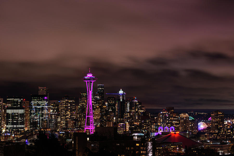 Space Needle in Color by Michael Lee