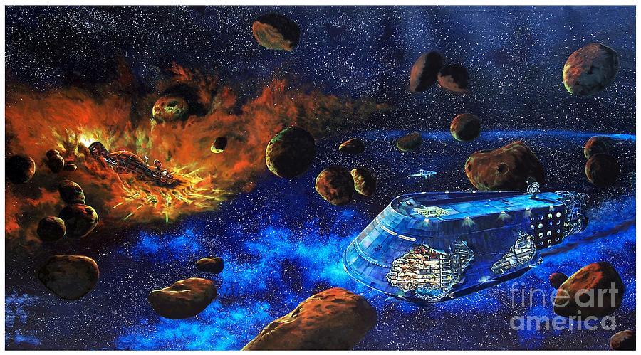 Future Painting - Spaceship Titanic by Murphy Elliott