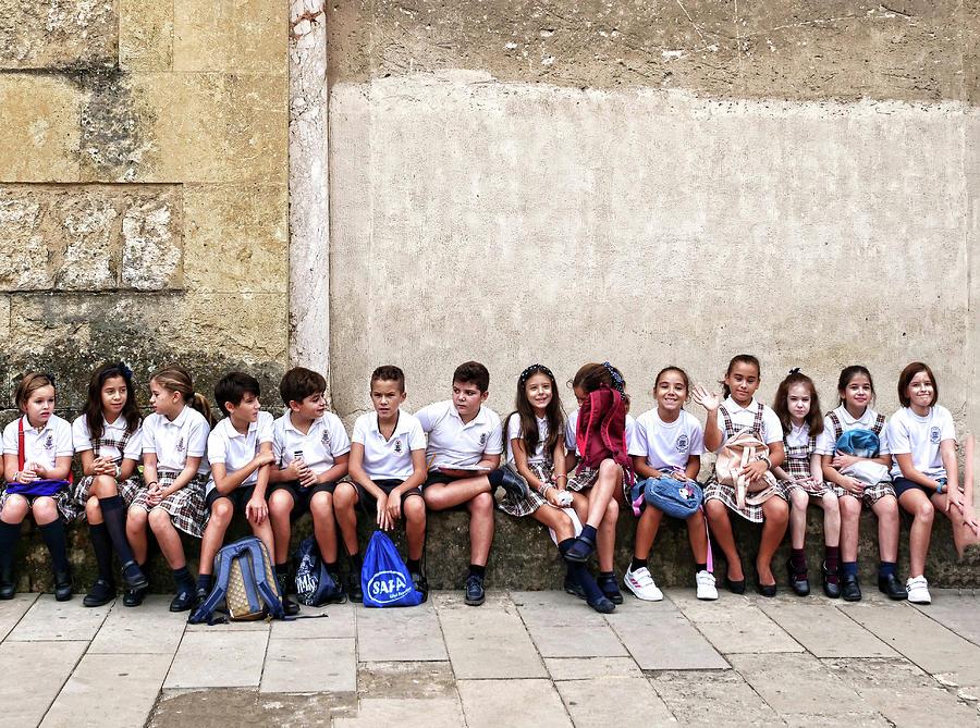 Spanish Schoolchildren - Cordoba Photograph