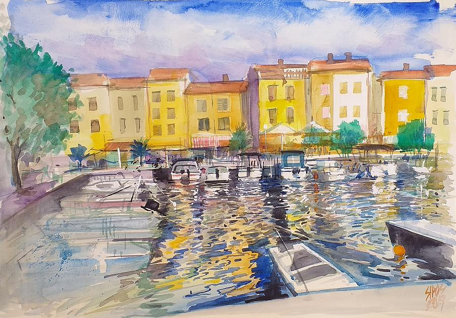 Sparkling Water In Harbour Painting