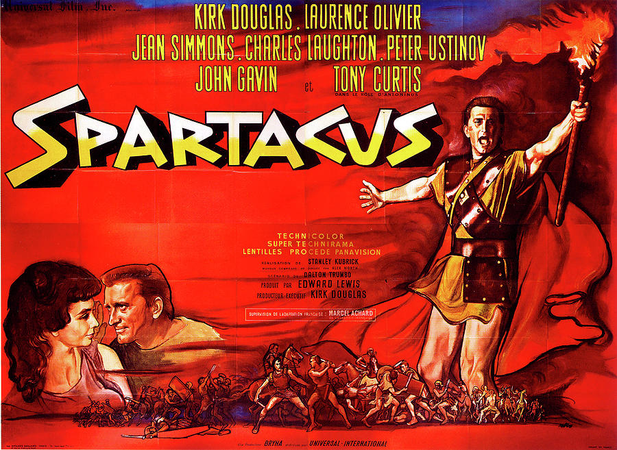 spartacus Movie Poster 1960 Mixed Media