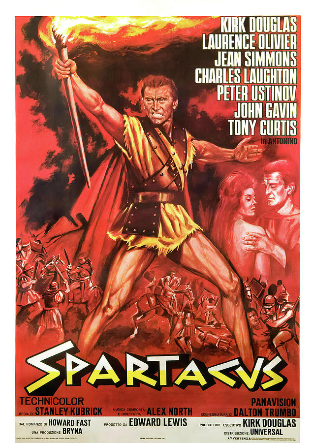 spartacus, With Kirk Douglas And Jean Simmons, 1960- Mixed Media