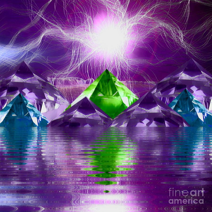 Special Digital Art - Special Edition Alternate Jenaspillia Crystal Mountain River by Rachel Hannah