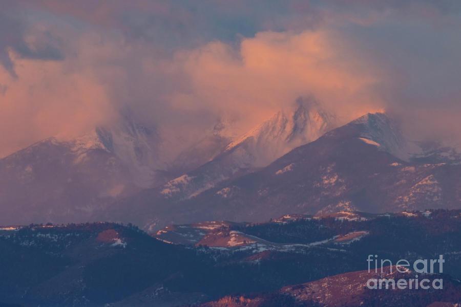 Spectacular Alpenglow On The Sangre De Cristo Photograph