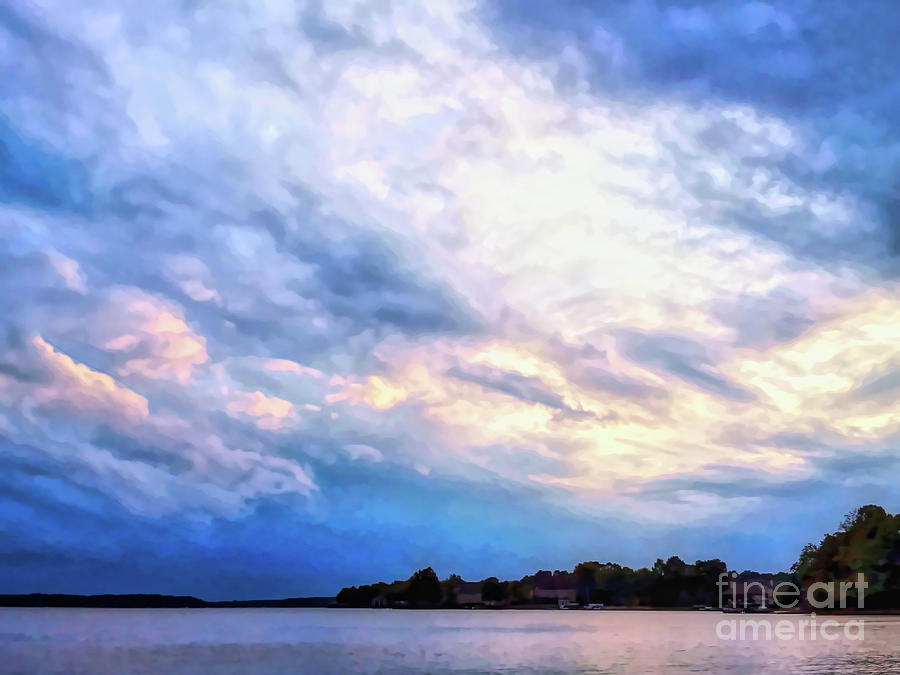 Spectacular Clouds at Lake Norman by Amy Dundon