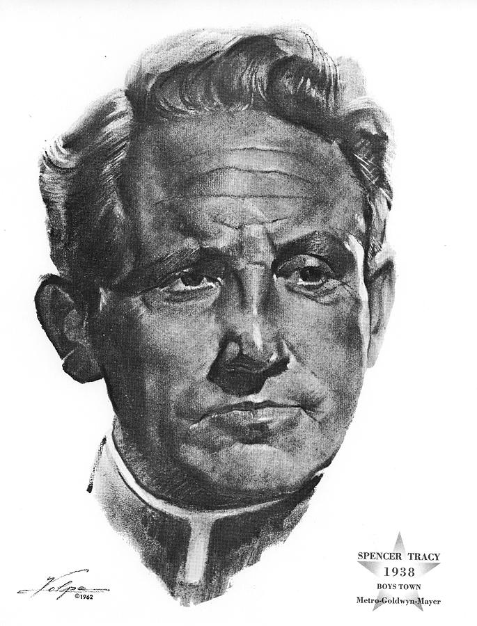 Spencer Tracy 2 By Volpe Drawing