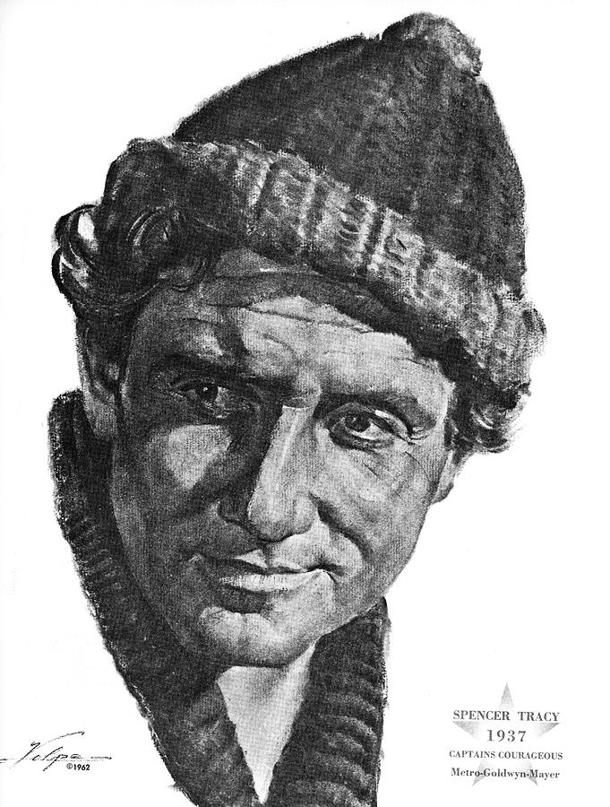 Spencer Tracy By Volpe Drawing