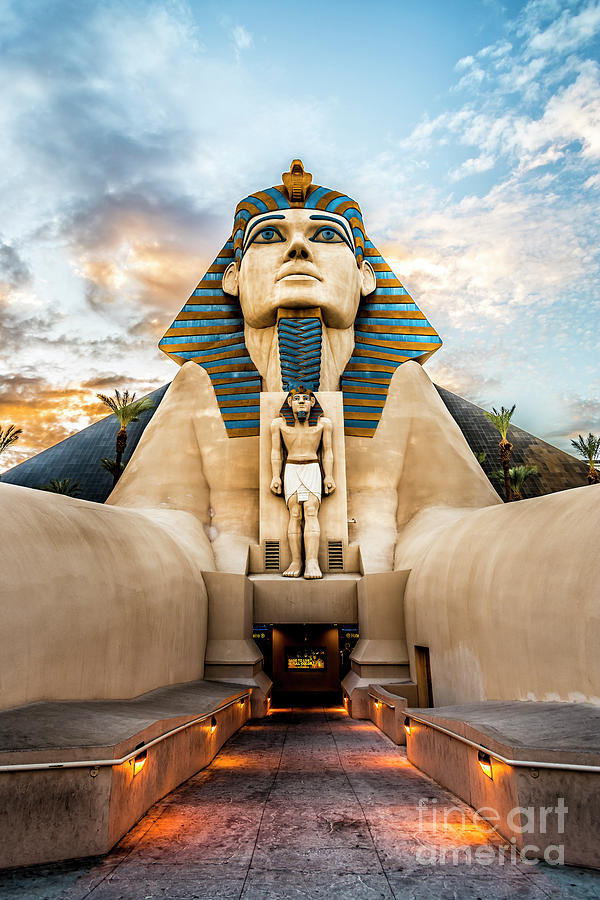 Sphinx at the Luxor on the Las Vegas Strip by Bryan Mullennix