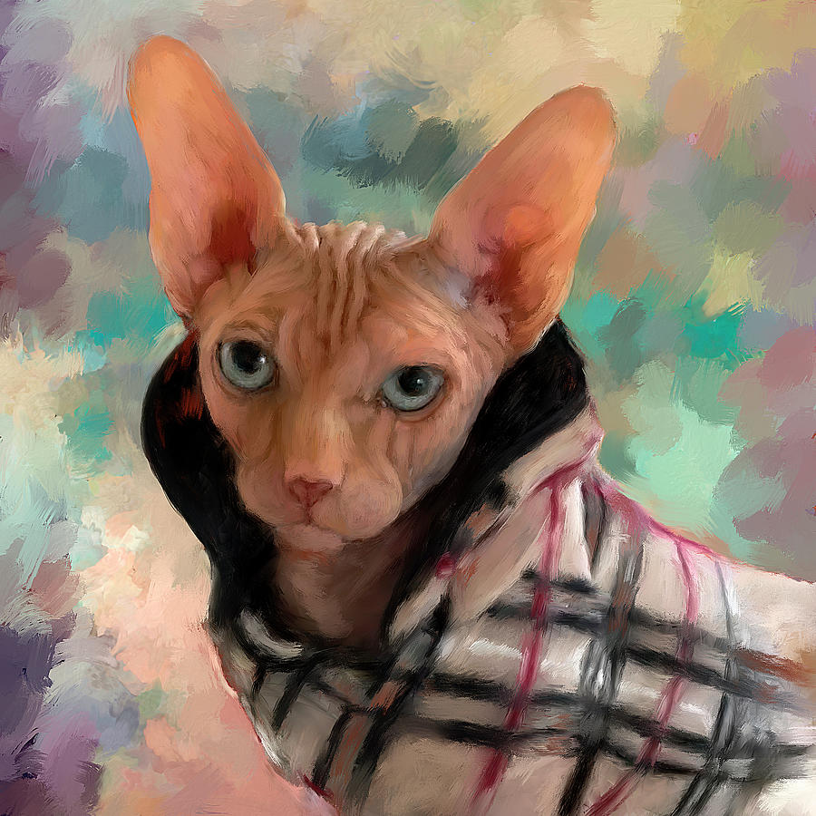 Sphinx Cat Painting Painting