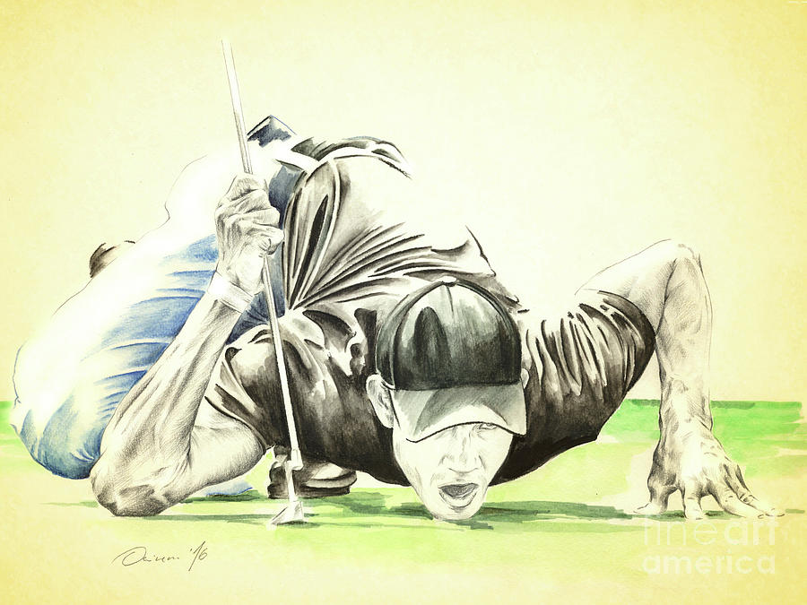Golfer Painting - Spiderman by Olivera Cejovic