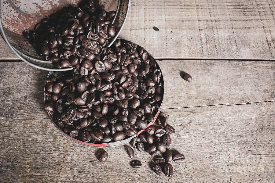 Coffee Photograph - Spilled Beans by Cindy Shebley