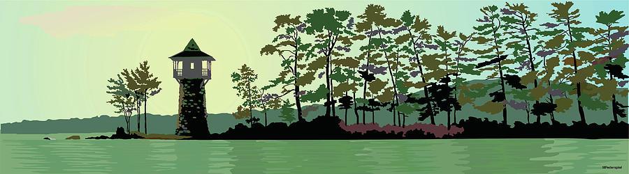 Lake Digital Art - Spindle Point by Marian Federspiel
