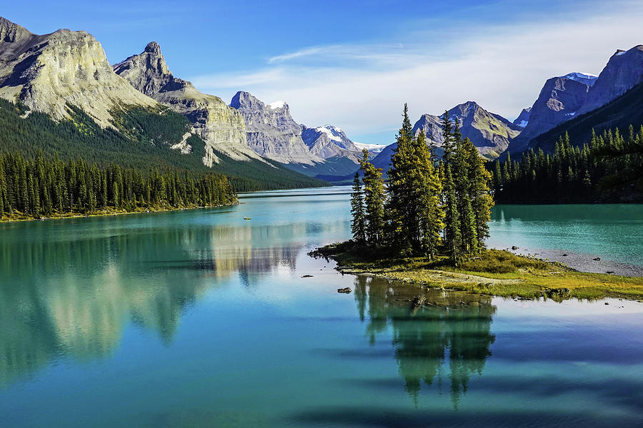 Spirit Island Maligne Lake Jasper National Park Alberta Canada Reflection by Toby McGuire