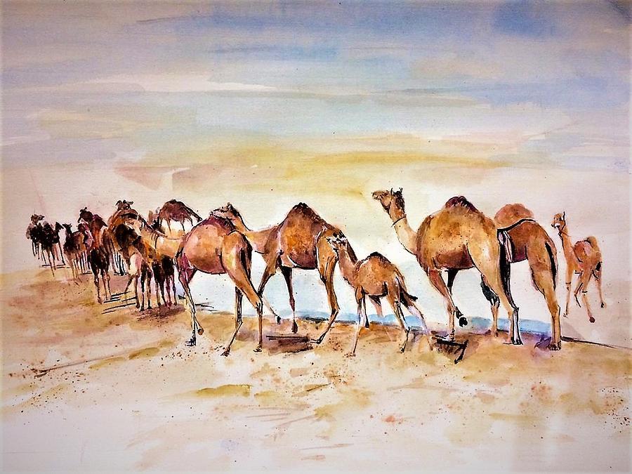 Desert Painting - Spirit Of Desert by Khalid Saeed