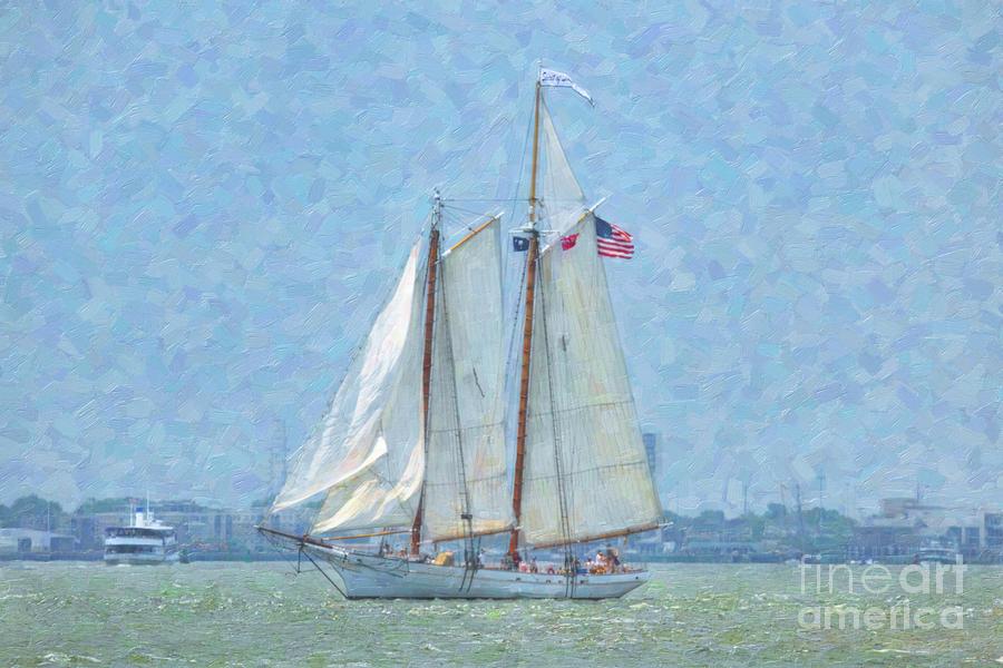 Spirit of SC - Charleston South Carolina Harbor Sailing by Dale Powell