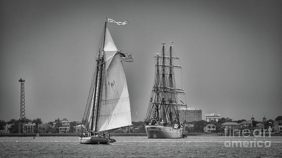Spirit Of Sc - Us Coast Guard Eagle - Charleston Photograph