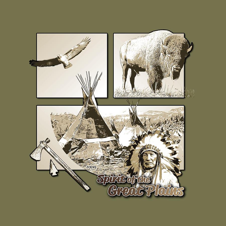 Spirit Of The Great Plains Digital Art
