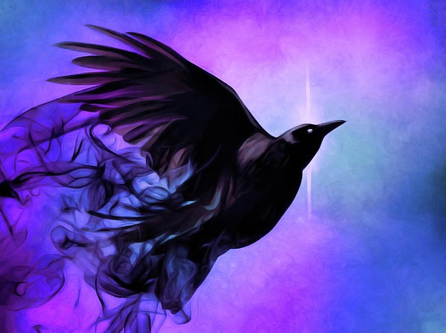 Spirit Raven Digital Art