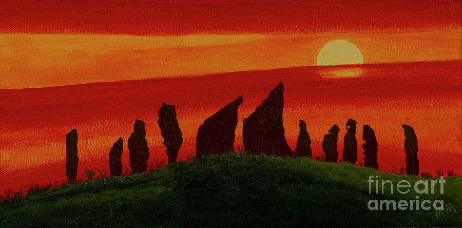 Spirit Stones, Kansas Flint Hills Painting