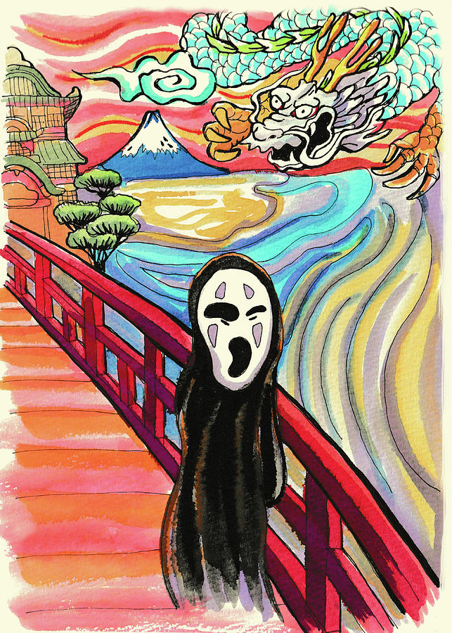 Spirited Away The Scream Painting By Projectx Collection