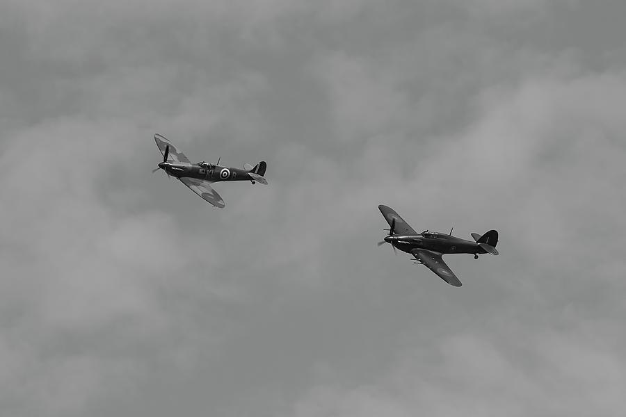 Spitfire And Hurricane Flight Photograph