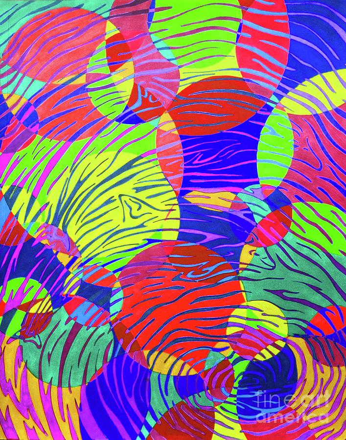 Splashing Through Color Drawing