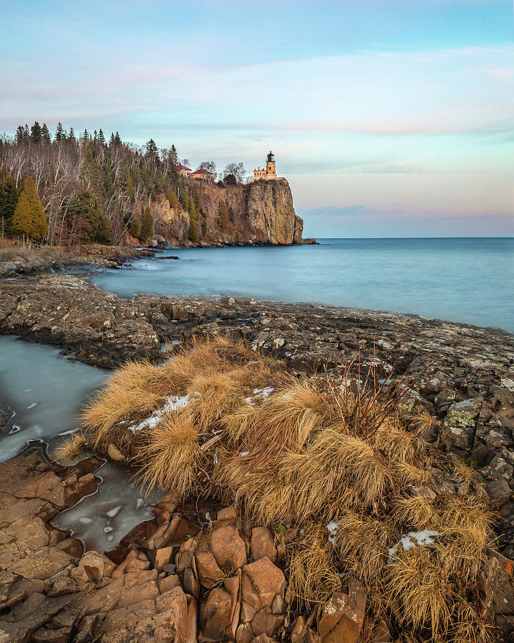 Split Rock Winter by Dave Chandre