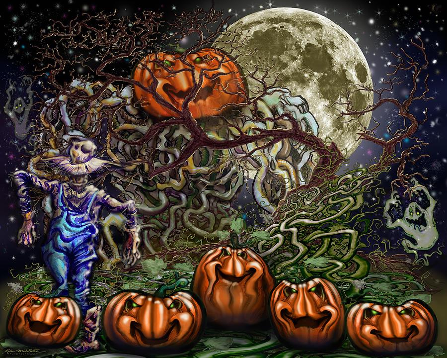 Spooky Vines Digital Art