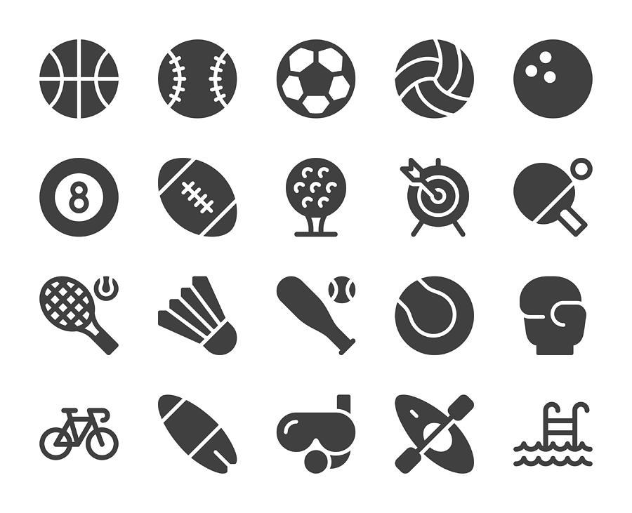 Sport - Icons Drawing by Rakdee