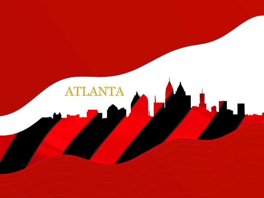 Sportive Atlanta Skyline Digital Art