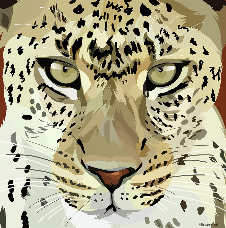 Spotted Leopard Mixed Media