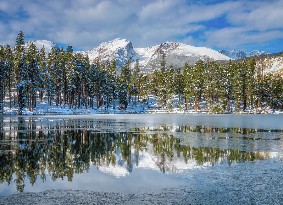 Sprague Lake First Freeze by Darren White