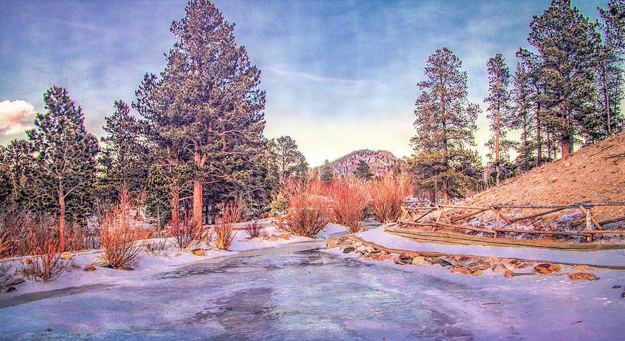 Sprague Lake in Winter, Rocky Mountain National Park by Marcy Wielfaert