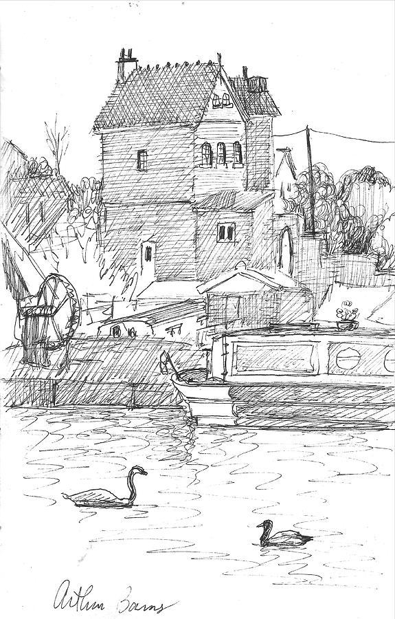 Sprinch Gatehouse, Runcorn Uk Drawing