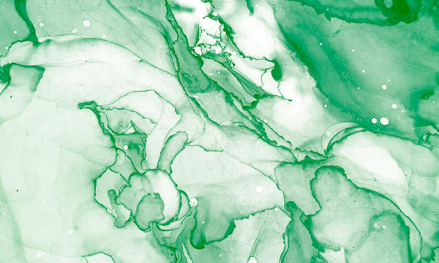Spring Alcohol Ink Banner. Chinese Ink Painting. Light Green Stone Marble Texture. Mixing Paints Image. Light Green Ink Paint Texture. Mixing Paints Image. Tropical Print. Photograph