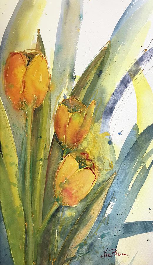 Floral Painting - Spring Blooms Again by Lee Bauman