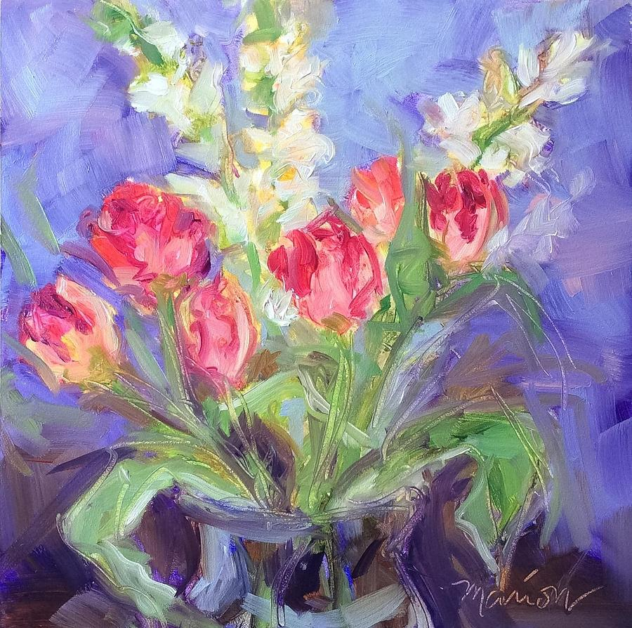 Spring Flowers Painting - Spring Bouquet  by Marion Corbin Mayer