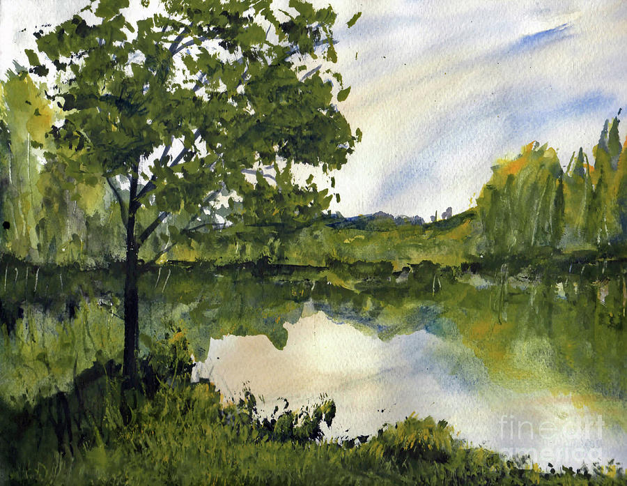 Suwannee Painting - Spring Comes Slowly on the Suwannee River by Randy Sprout