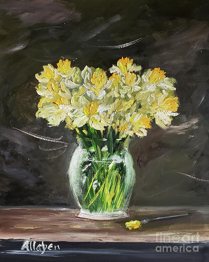 Still Life Painting - Spring Daffodils  by Stanton Allaben