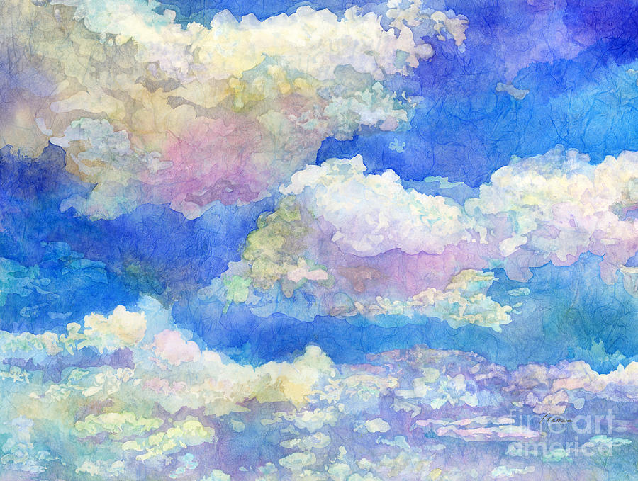 Spring Day-fluffy Clouds Painting