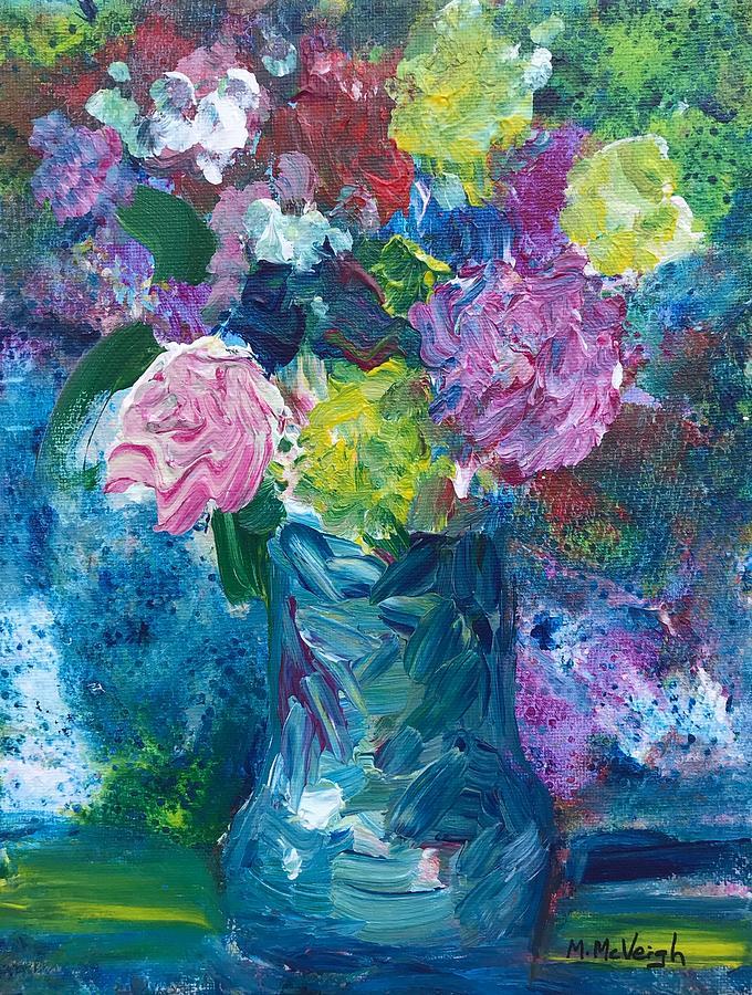 Spring Flowers Painting - Spring Flowers by Marita McVeigh