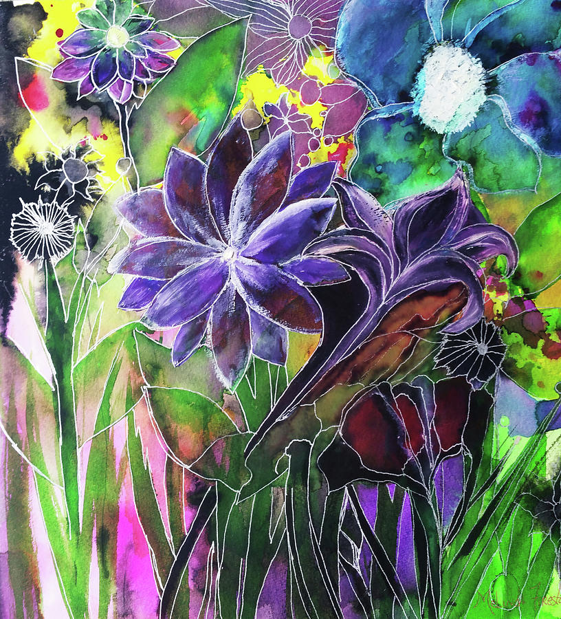 Spring Garden In Bloom by Melinda Firestone-White
