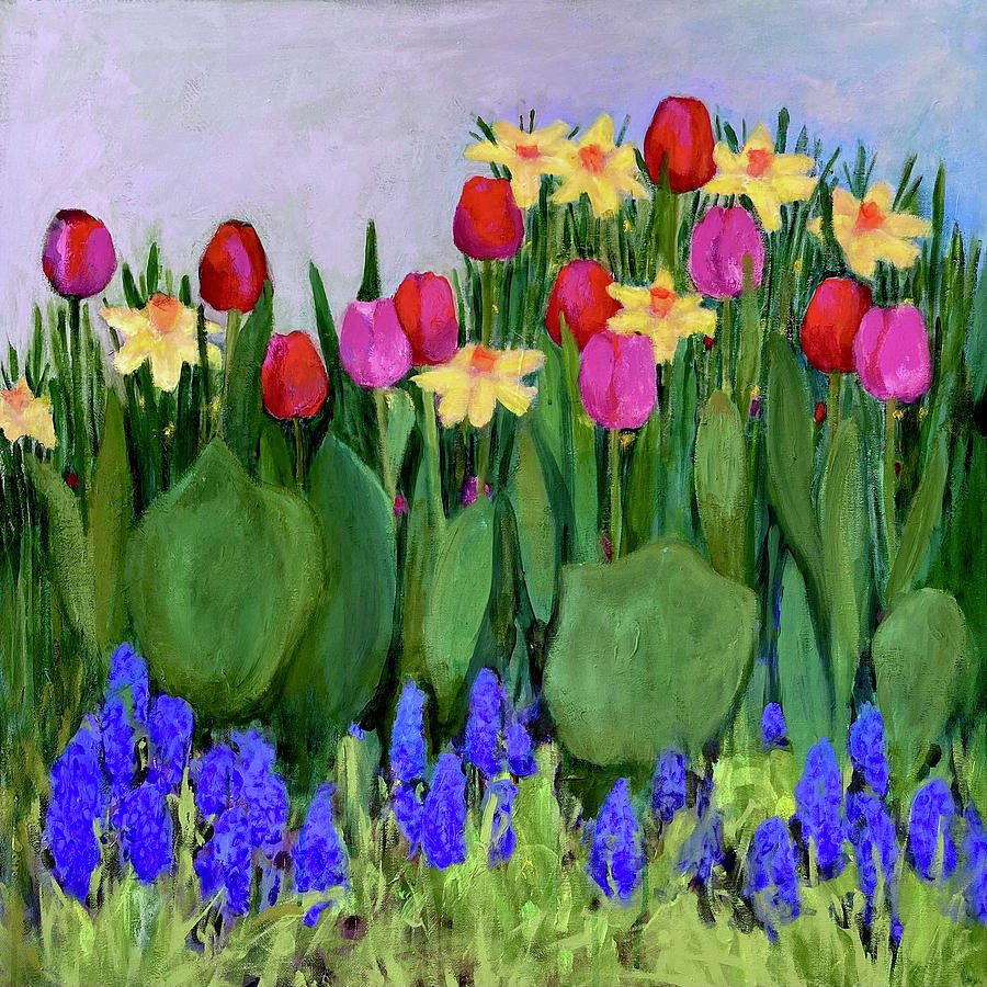 Figurative Painting - Spring In Bloom by Margot Sappern