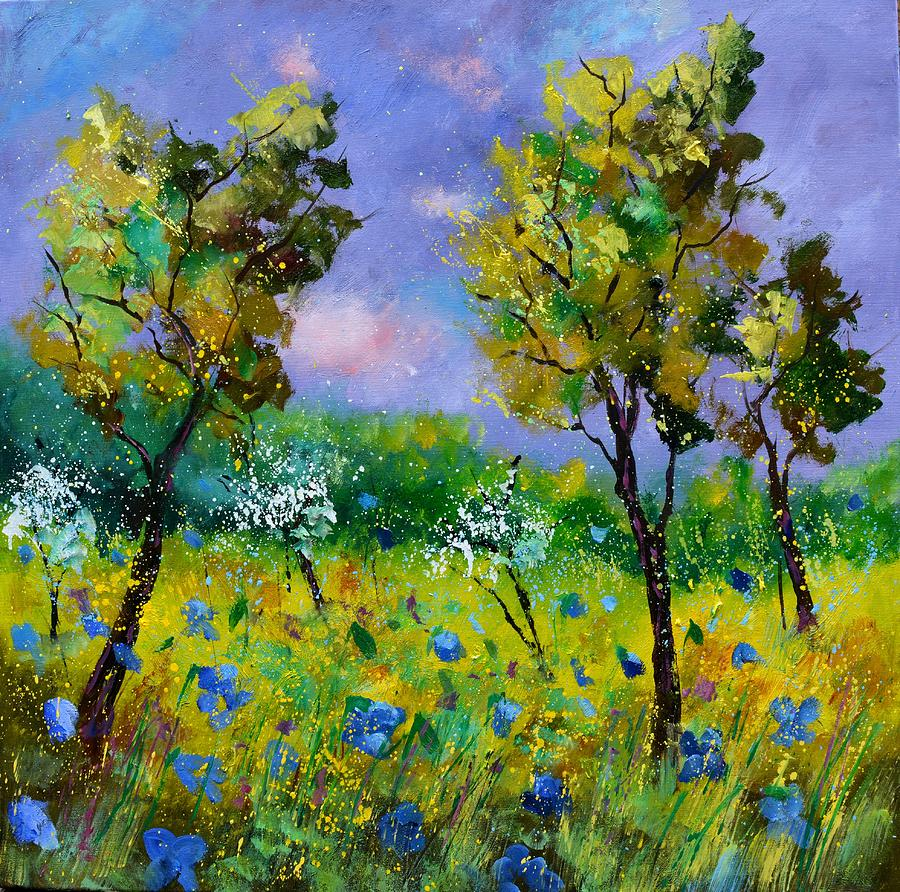 Spring In Famenne Painting