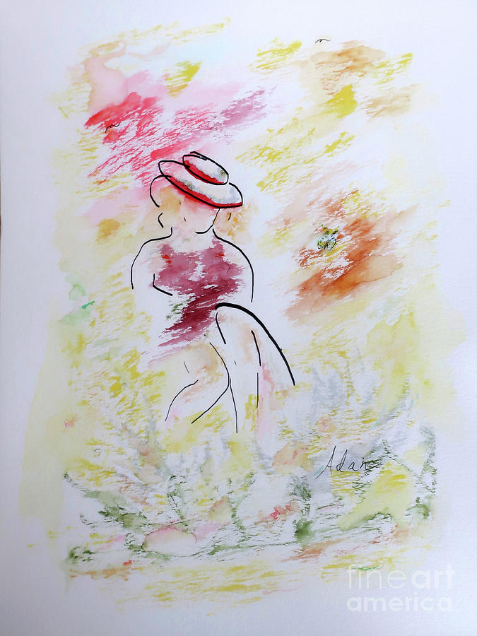 Spring Is A Lady Painting
