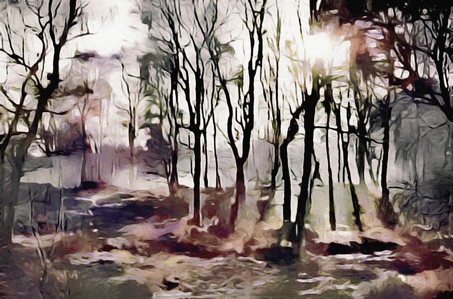 Spring Morning Mist Digital Art